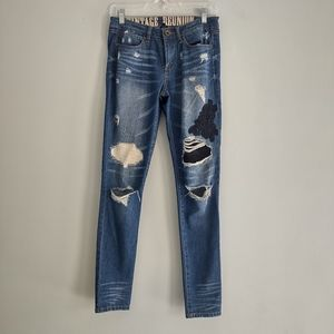 Vintage Reunion Distressed Ripped Skinny Jeans 26